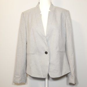 Ann Taylor Factory Gray Flat Collar Blazer